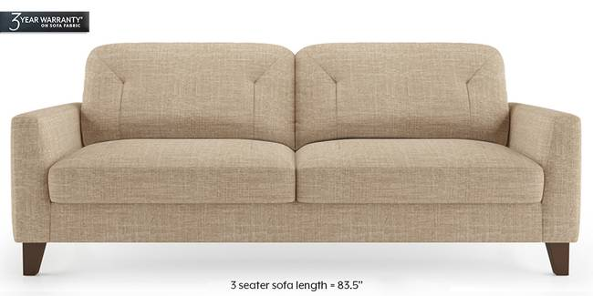 Bradford Sofa (Sandshell Beige) (1-seater Custom Set - Sofas, 2-seater Custom Set - Sofas, None Standard Set - Sofas, None Standard Set - Sofas, Fabric Sofa Material, Fabric Sofa Material, Regular Sofa Size, Regular Sofa Size, Regular Sofa Type, Regular Sofa Type, Sandshell Beige, Sandshell Beige)