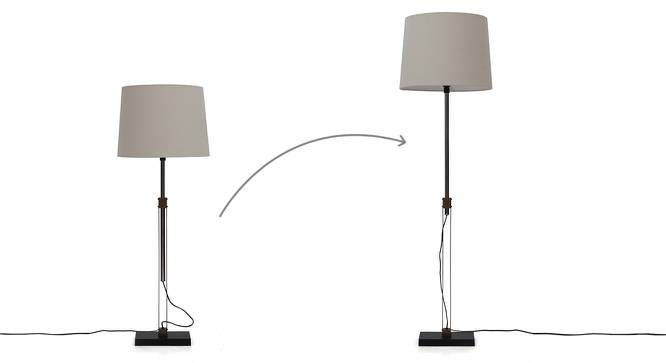 Edmonton Floor Lamp (White Shade Color) by Urban Ladder