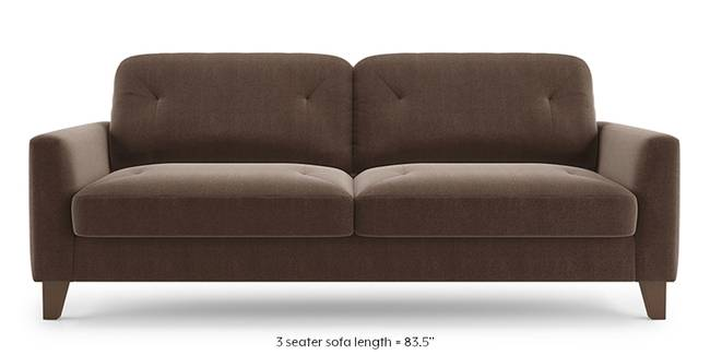 Bradford Sofa (Daschund Brown) (1-seater Custom Set - Sofas, None Standard Set - Sofas, Fabric Sofa Material, Regular Sofa Size, Regular Sofa Type, Daschund Brown)