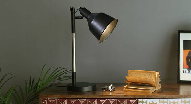 Cancun Study Lamp (Black Shade Finish) by Urban Ladder - Design 1 Full View - 203340