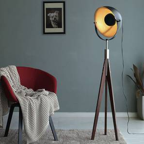 Winnipeg Floor Lamp (Black Base Finish) by Urban Ladder