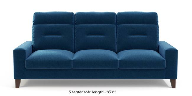 Siena Sofa (Cobalt Blue) (1-seater Custom Set - Sofas, None Standard Set - Sofas, Cobalt, Fabric Sofa Material, Regular Sofa Size, Regular Sofa Type)