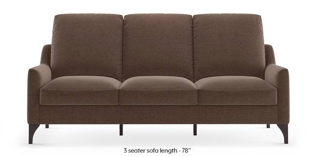 Norden Sofa (Daschund Brown) (1-seater Custom Set - Sofas, None Standard Set - Sofas, Fabric Sofa Material, Regular Sofa Size, Regular Sofa Type, Daschund Brown)