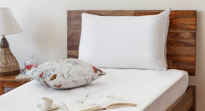 Serena 300 TC Sateen Bedsheet Set (Single Size, Solid Ivory White) by Urban Ladder