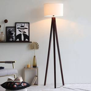 Boca Floor Lamp (Walnut Base Finish) by Urban Ladder - Design 1 Full View - 204282