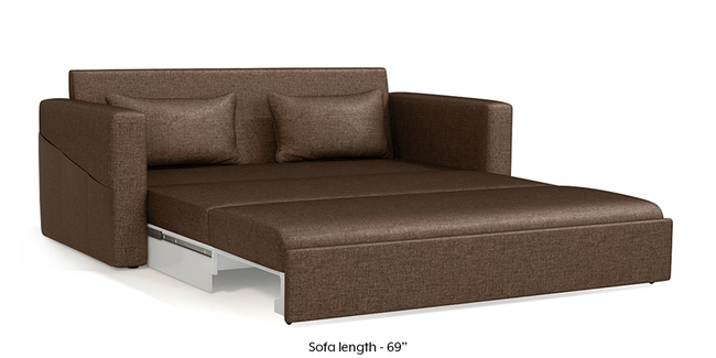 Camden Sofa Cum Bed (Mocha Brown) (3-seater Custom Set - Sofas, None Standard Set - Sofas, Mocha, Fabric Sofa Material, Regular Sofa Size, Regular Sofa Type)