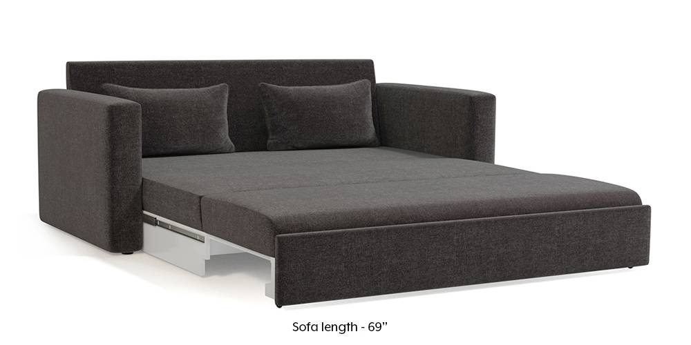 Apollo Sofa Cum Bed (Smoke Grey) (3-seater Custom Set - Sofas, None Standard Set - Sofas, Smoke, Fabric Sofa Material, Regular Sofa Size, Regular Sofa Type) by Urban Ladder