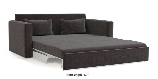 Camden Sofa Cum Bed (Smoke Grey) (3-seater Custom Set - Sofas, None Standard Set - Sofas, Smoke, Fabric Sofa Material, Regular Sofa Size, Regular Sofa Type)