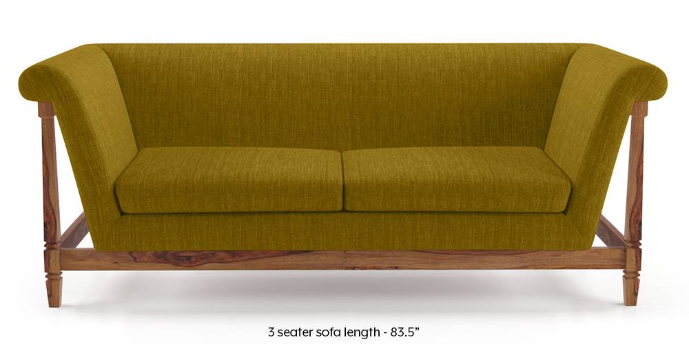Malabar Wooden Sofa (Olive Green) by Urban Ladder