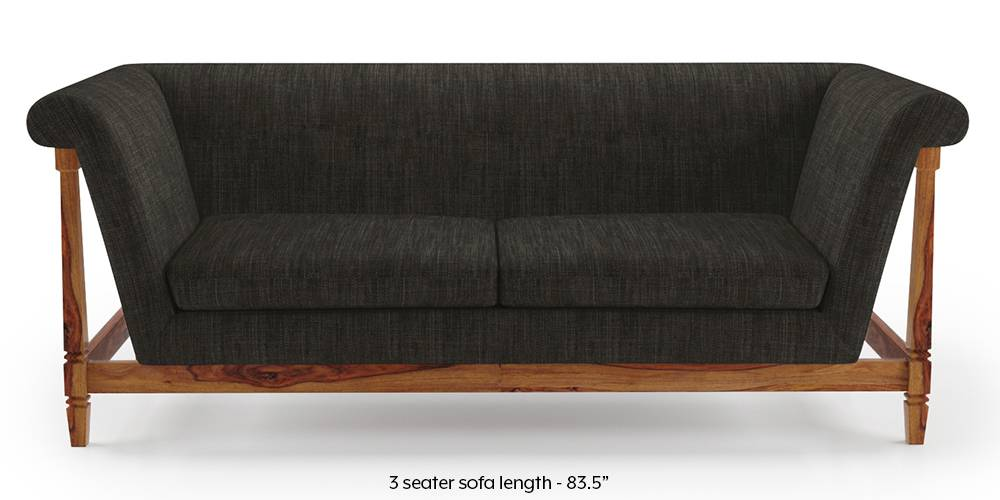 Malabar Wooden Sofa (Graphite Grey) by Urban Ladder