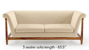 Malabar Wooden Sofa (Birch Beige)