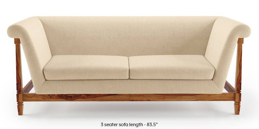 Malabar Wooden Sofa (Birch Biege) by Urban Ladder