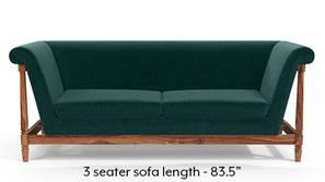 Malabar Wooden Sofa (Malibu Blue)