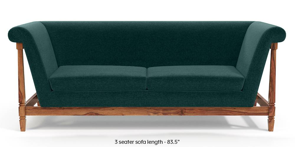Malabar Wooden Sofa (Malibu Blue) by Urban Ladder