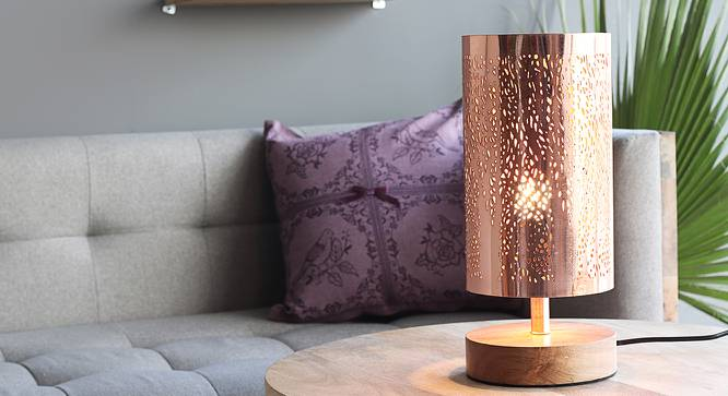 Mendoza Table Lamp (Copper Base Finish) by Urban Ladder