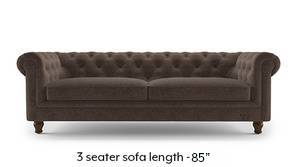 Winchester Fabric Sofa (Daschund Brown)