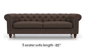 Winchester Fabric Sofa (Mocha Brown)