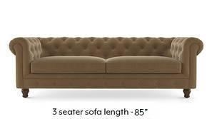 Winchester Fabric Sofa (Fawn Velvet)