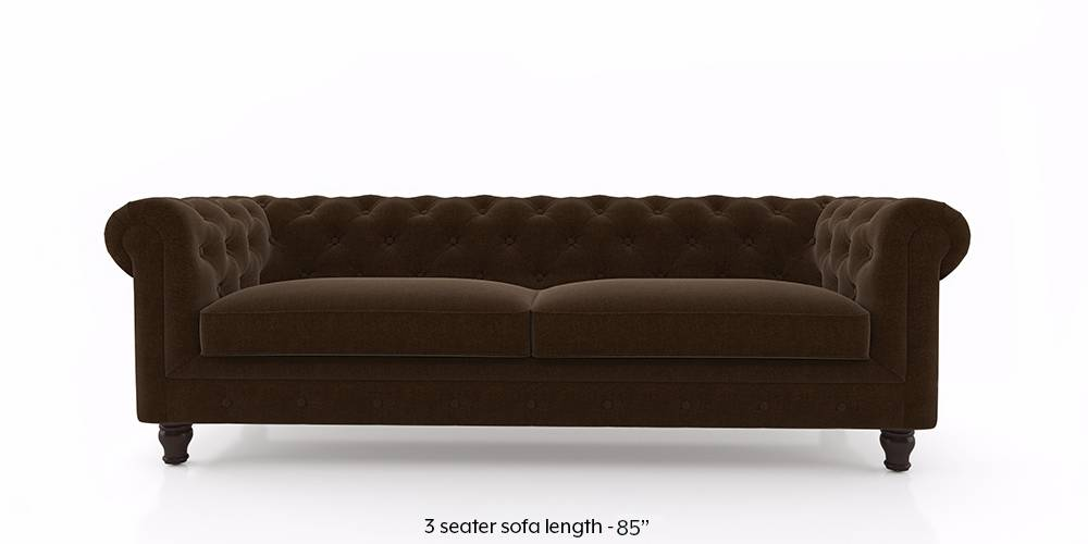 Winchester Fabric Sofa (Dark Earth) (1-seater Custom Set - Sofas, None Standard Set - Sofas, Dark Earth, Fabric Sofa Material, Regular Sofa Size, Regular Sofa Type) by Urban Ladder - - 208846