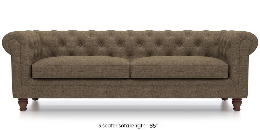Winchester Fabric Sofa (Dune Brown) (Dune, Fabric Sofa Material, Regular Sofa Size, Regular Sofa Type) by Urban Ladder