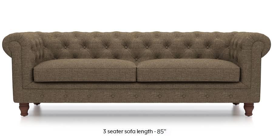 Winchester Fabric Sofa (Dune Brown) (Dune, Fabric Sofa Material, Regular Sofa Size, Regular Sofa Type) by Urban Ladder - - 208848