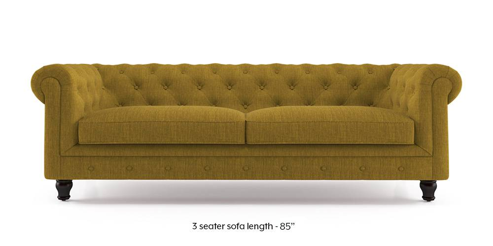 Winchester Fabric Sofa (Olive Green) (1-seater Custom Set - Sofas, None Standard Set - Sofas, Olive, Fabric Sofa Material, Regular Sofa Size, Regular Sofa Type) by Urban Ladder