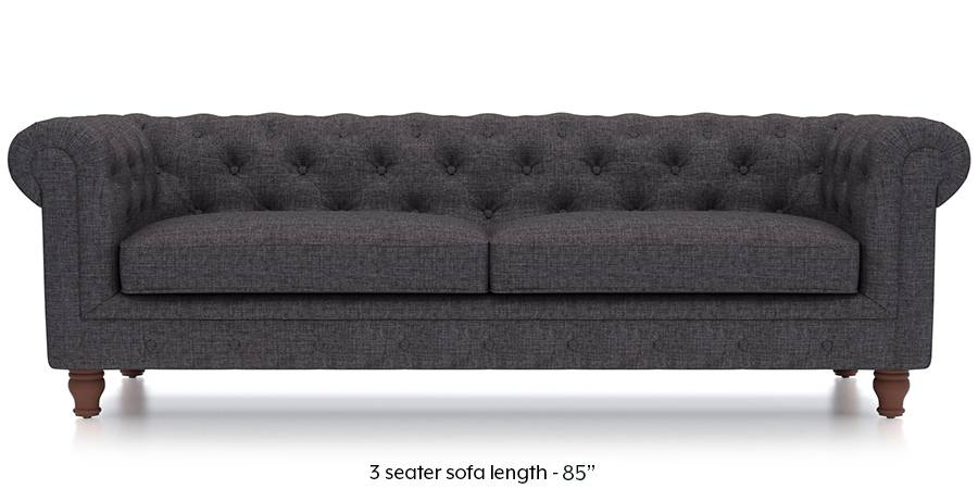 Winchester Fabric Sofa (Steel Grey) (Steel, Fabric Sofa Material, Regular Sofa Size, Regular Sofa Type) by Urban Ladder