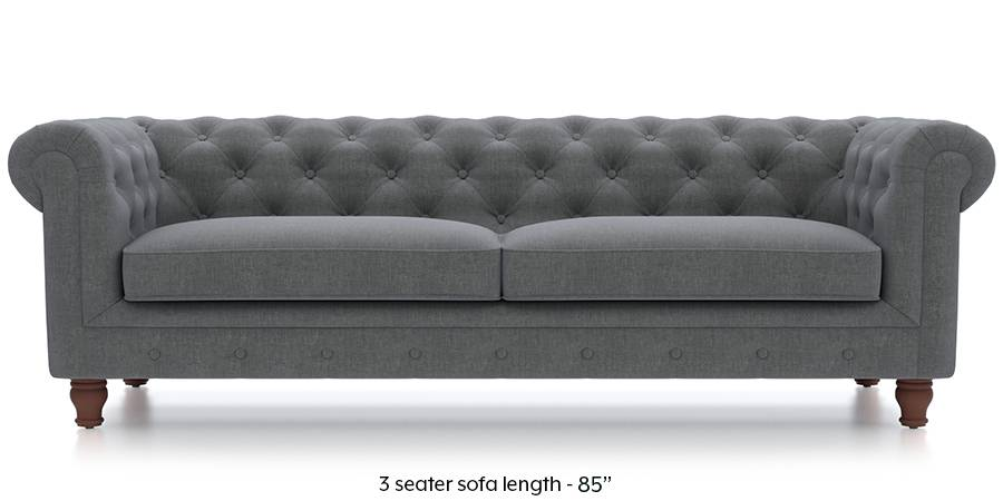 Winchester Fabric Sofa (Smoke Grey) (Smoke, Fabric Sofa Material, Regular Sofa Size, Regular Sofa Type) by Urban Ladder