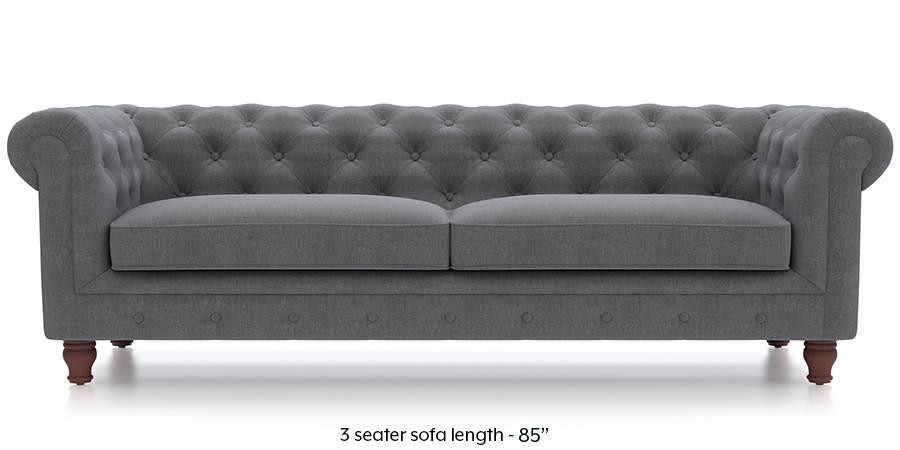 Winchester Fabric Sofa (Smoke Grey) (Smoke, Fabric Sofa Material, Regular Sofa Size, Regular Sofa Type) by Urban Ladder