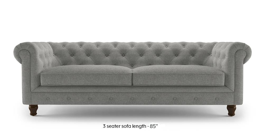 Winchester Fabric Sofa (Vapour Grey) (1-seater Custom Set - Sofas, None Standard Set - Sofas, Fabric Sofa Material, Regular Sofa Size, Regular Sofa Type, Vapour Grey) by Urban Ladder