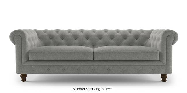 Winchester Fabric Sofa (Vapour Grey) (1-seater Custom Set - Sofas, None Standard Set - Sofas, Fabric Sofa Material, Regular Sofa Size, Regular Sofa Type, Vapour Grey)