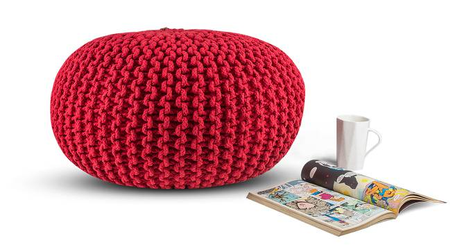 "Carmen Pouffe (Red, 16""' x 24"" Size) by Urban Ladder"