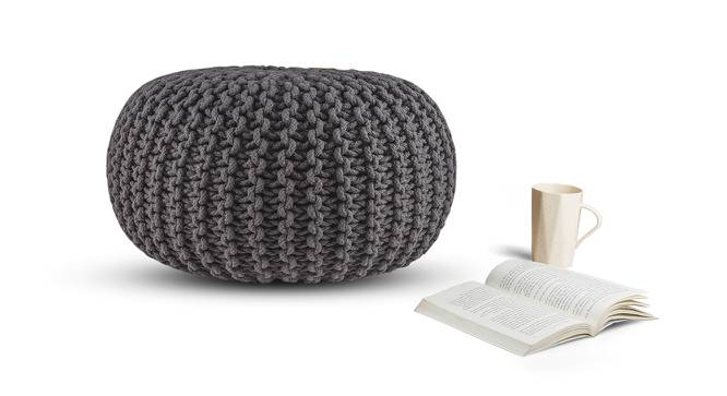 "Carmen Pouffe (Grey, 16""' x 24"" Size) by Urban Ladder"