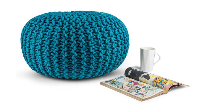 "Carmen Pouffe (Blue, 16""' x 24"" Size) by Urban Ladder"