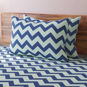 Chevron blue bedsheet lp