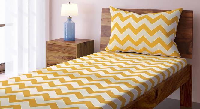 Chevron Bedsheet Set (Yellow, Single Size) by Urban Ladder
