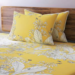 Secret Garden Bedsheet Set (King Size, Contour Yellow) by Urban Ladder