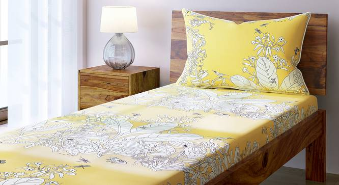 Secret Garden Bedsheet Set (Single Size, Contour Yellow) by Urban Ladder
