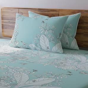 Secret Garden Bedsheet Set (Double Size, Contour Blue) by Urban Ladder