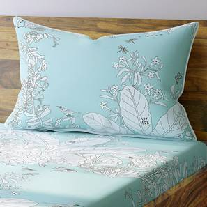 Secret Garden Bedsheet Set (Single Size, Contour Blue) by Urban Ladder