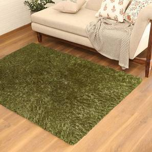 "Linton Shaggy Rug (152 x 244 cm  (60"" x 96"") Carpet Size, Olive Green) by Urban Ladder - Design 1 Picture - 209113"