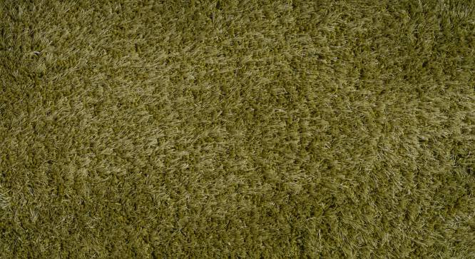 "Linton Shaggy Rug (152 x 244 cm  (60"" x 96"") Carpet Size, Olive Green) by Urban Ladder - Design 1 Half View - 209142"