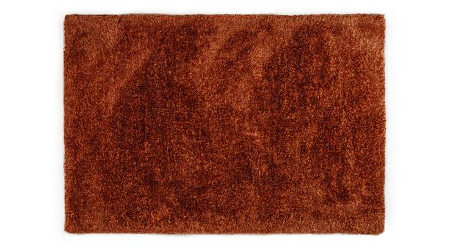"Linton Shaggy Rug (Rust, 91 x 152 cm  (36"" x 60"") Carpet Size) by Urban Ladder - Design 1 Half View - 209145"