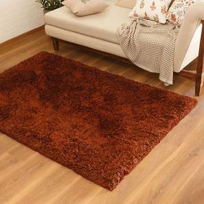 "Linton Shaggy Rug (Rust, 152 x 244 cm  (60"" x 96"") Carpet Size) by Urban Ladder - Design 1 Pic - 209149"