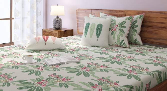 Frangipani Bedsheet Set (King Size, Blush) by Urban Ladder