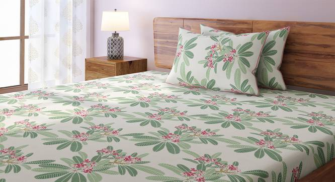 Frangipani Bedsheet Set (Double Size, Blush) by Urban Ladder