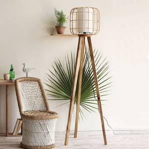 Astana Floor Lamp (Natural Base Finish) by Urban Ladder - Design 1 Full View - 209805