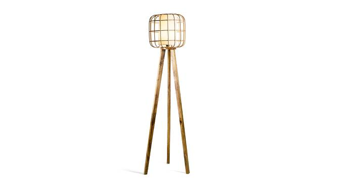 Astana Floor Lamp (Natural Base Finish) by Urban Ladder