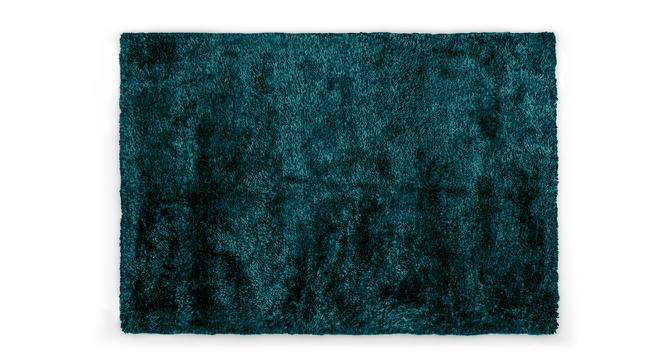 "Linton Shaggy Rug (152 x 244 cm  (60"" x 96"") Carpet Size, Teal) by Urban Ladder - Design 1 Half View - 210016"