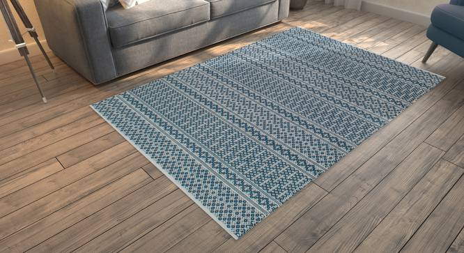 "Rivoli Dhurrie (Blue, 36"" x 60"" Carpet Size) by Urban Ladder"